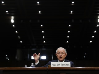 In Senate Testimony, Sessions Cites Confidentiality of Trump Conversations