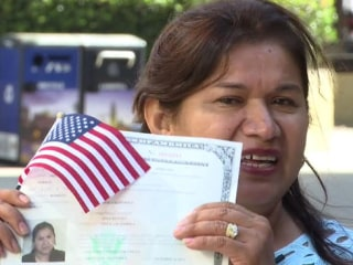 'I Did It': Mom Who Can't Read, Write Earns U.S. Citizenship