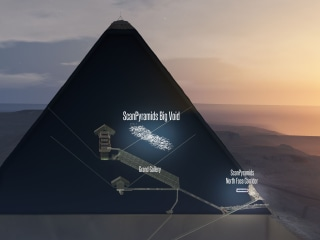 Cosmic Rays Reveal Big 'Void' in Egypt's Great Pyramid