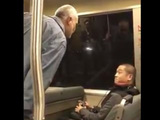 Police investigate after video shows transit rider using racial slurs, striking others