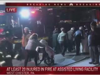 20 hospitalized in huge fire at senior living community