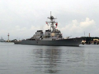 USS Benfold sustains minor damage in collision with Japanese tug boat