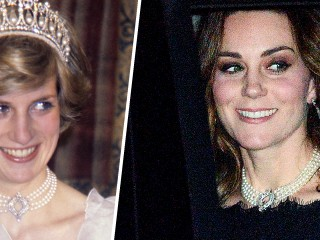 Duchess Kate channels Princess Diana in stunning diamond and pearl necklace