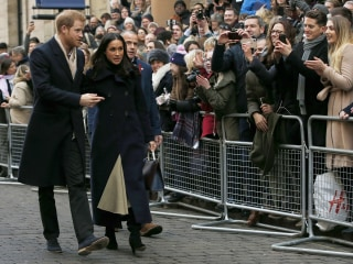 Prince Harry, Meghan Markle step out on first royal visit as couple