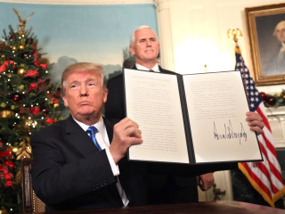 Trump recognizes Jerusalem as Israel's capital, upending U.S. policy