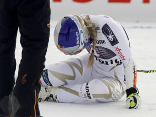 Back injury forces Lindsey Vonn to withdraw from World Cup race