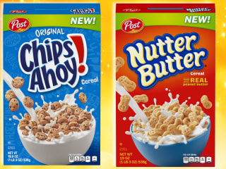 Cookies for breakfast! Nutter Butter and Chips Ahoy cereals debut at Walmart