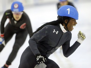 Maame Biney, 17, is first black woman to make Olympic speedskating team