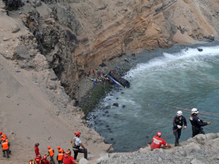 Bus plunges off cliff in Peru, killing dozens