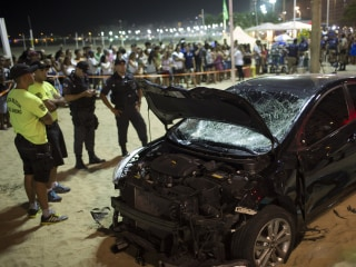 At least 15 injured as car drives into crowd at Rio's Copacabana Beach