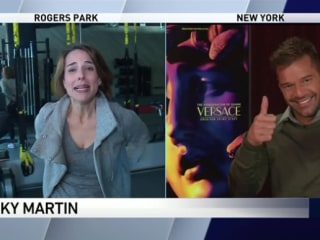 Ricky Martin cracks up with TV reporter's ultimate fan moment