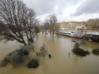 Seine River bursts its banks in Paris after days of non-stop rain