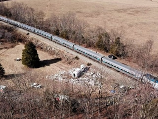 At the scene: Train carrying GOP lawmakers strikes garbage truck
