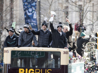 Fly, Eagles Fly! Fans flock to Super Bowl victory parade