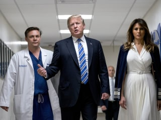 Trump visits Parkland shooting victims at Florida hospital