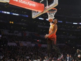 NBA's Mitchell, Nance Jr. shine in throwback Slam Dunk Contest