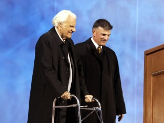 Billy Graham 'would want to be remembered as a preacher,' son says