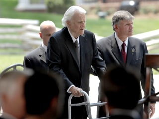 Franklin Graham followed in his father Billy's footsteps, but took a right-leaning path