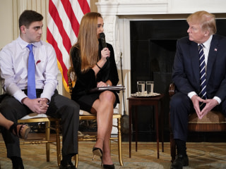 Trump hears emotional pleas from school shooting survivors, families