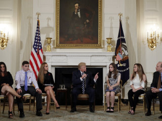 Trump defends arming teachers to protect students from a 'sicko shooter'
