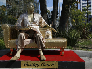 Harvey Weinstein 'Casting Couch' statue unveiled ahead of the Oscars