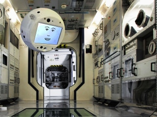 This talking robot head will be 'Space Alexa' for astronauts aboard the ISS
