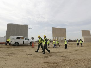 Trump visits California to see wall prototypes near Mexico border