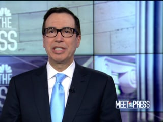Mnuchin addresses Trump's policy on North Korea, brushes off vulgar language used at rally