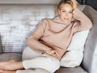 Sharon Stone mixes glamour and comfort in her Los Angeles home