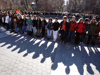 Students demand action on gun violence with nationwide walkout