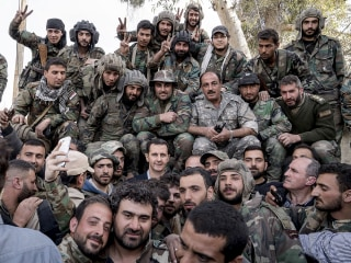 Syria's eastern Ghouta: President Assad visits troops on front line