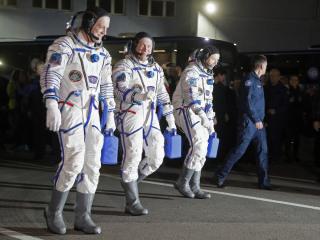 Watch live as NASA astronauts launch aboard an ISS-bound Soyuz rocket