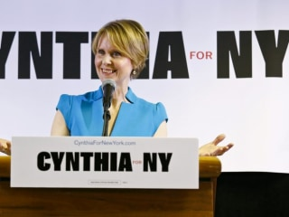 Cynthia Nixon's political debut puts gay rights in spotlight