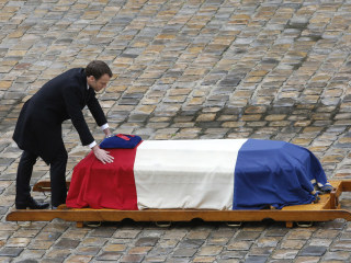 France honors gendarme who sacrificed his life in supermarket attack
