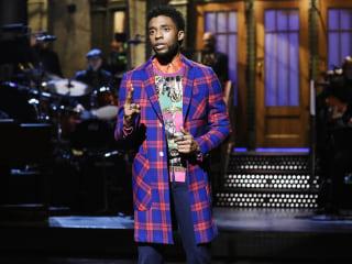 'Black Panther' star Chadwick Boseman pokes fun at film's success on 'Saturday Night Live'