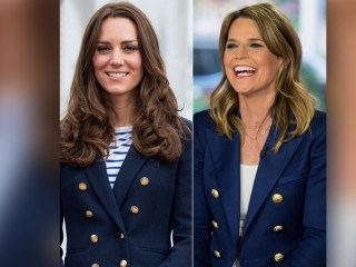 Here's how to rock a blue blazer like Savannah and Kate, Duchess of Cambridge