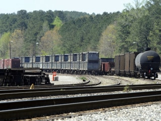 'Poop train' carrying human waste cleared after months squatting in Alabama town