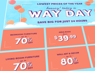 Hurry! Wayfair's huge Way Day sale is happening right now, for one day only