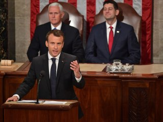 French President Macron breaks with Trump on climate change: 'There's no Planet B'