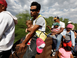 Follow the migrant caravan's journey through Mexico to the U.S. border