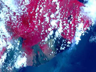 Satellite photos show Hawaii volcano leaking lava, toxic gas