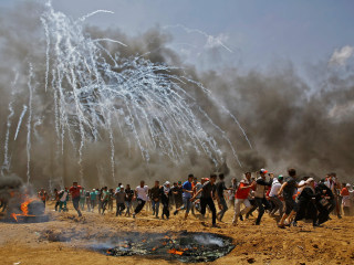 Scores dead in Gaza fence protest as U.S. moves embassy to Jerusalem