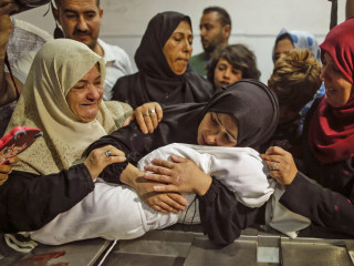Gaza protests replaced by funerals as Palestinians mark 'nakba'