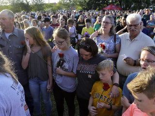 Shock turns to sorrow in small-town Santa Fe, Texas, after school shooting