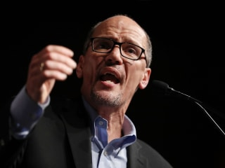 Party chief Tom Perez says DNC must keep out of primaries, then intervenes for Cuomo
