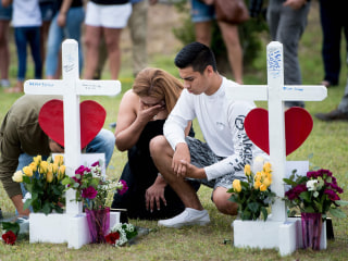 Some Santa Fe shooting victims may have been caught in the crossfire