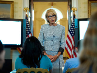 Education Secretary Betsy DeVos says federal school safety commission will issue 'best practices' by year's end
