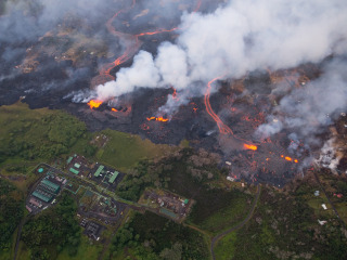 Lava inching toward Hawaiian geothermal power plant