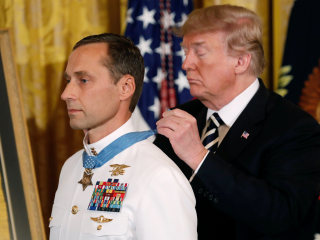 Trump awards Medal of Honor to Navy SEAL for daring Afghan assault