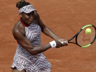 One American tennis star was knocked out of the French Open in the first round